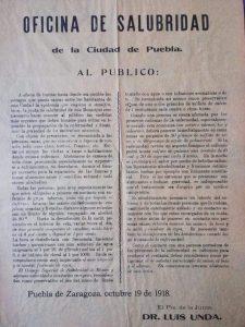 Publicacion de recomendaciones en 1918